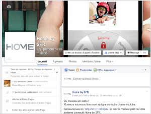 Page Facebook de Home by SFR