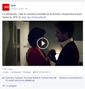 Journée de la femme - Post Facebook du 6 mars 2015