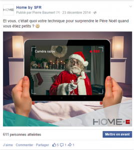 Post Facebook du 23 décembre 2014