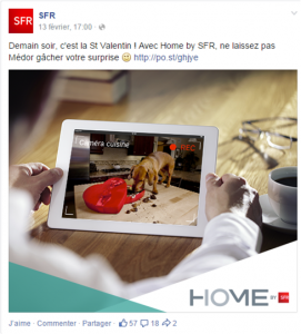 Saint Valentin - Post Facebook du 13 février 2015